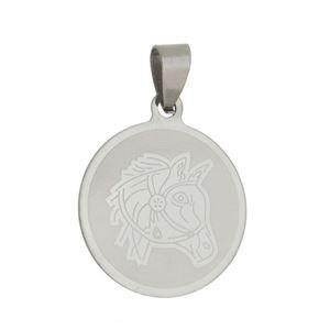 Imagem de Pingente medalha com cavalo - 0205938^