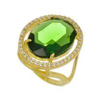 Imagem de Anel com pedra oval natural - 0105900 Verde