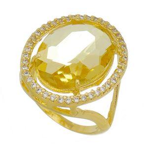 Imagem de Anel com pedra oval natural - 0105900 Amarelo