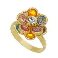 Imagem de Anel flor 10 pedras coloridas - 0105918