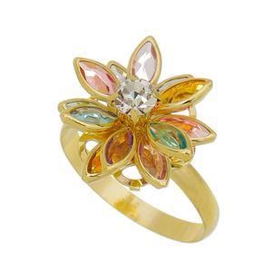 Imagem de Anel flor 12 pedras coloridas - 0105920
