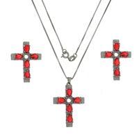 Imagem de Conjunto cruz com pedras - 1100434#