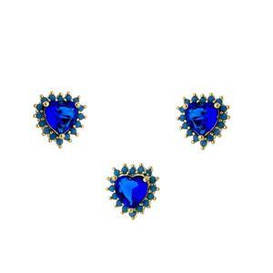 Imagem de Conjunto coração com pedra natural - 1100077