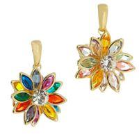 Imagem de Pingente flor pedras coloridas - 0206535 Cores