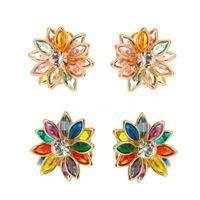 Imagem de Brinco flor pedras coloridas - 0502735 Cores
