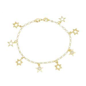 Imagem de Pulseira com estrelas e zircônia - 0404403