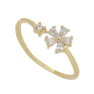 Imagem de Anel flor com pedras zircônia - 0106023