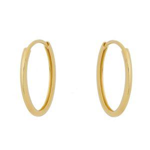 Imagem de Brinco argola oval fio 1,60mm - 0520034