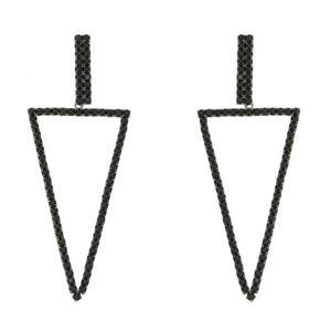 Imagem de Brinco triangulo com pedras strass - 0519740#