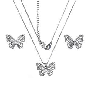 Imagem de Conjunto borboleta pedras zircônia - 1100495#