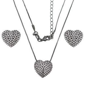 Imagem de Conjunto coração pedras zircônia - 1100505#