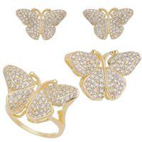 Imagem de Conjunto borboleta pedra zircônia - 1100508