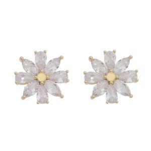 Imagem de Brinco flor pedras gota zircônia - 0520106