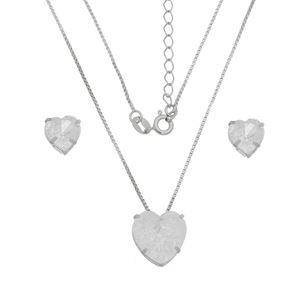 Imagem de Conjunto coração pedra fusion - 1100517*