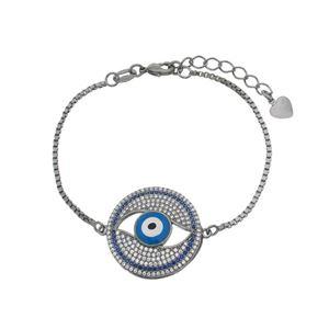 Imagem de Pulseira olho grego pedra zircônia - 0404536#