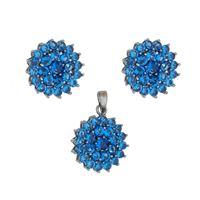 Imagem de Conjunto flor pedras zircônia - 1100544#