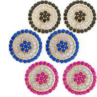 Imagem de Brinco pizza pedras zircônia - 0520323 Várias Cores