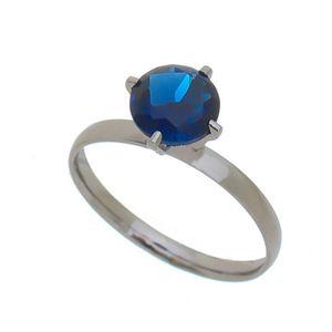 Imagem de Anel solitário natural azul safira - 0106110#