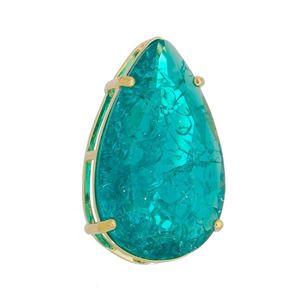 Imagem de Pingente gota pedra fusion verde - 0206207