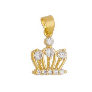 Imagem de Pingente coroa com pedras zircônia - 0206234