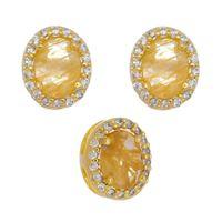 Imagem de Conjunto oval pedra natural citrino - 1100565