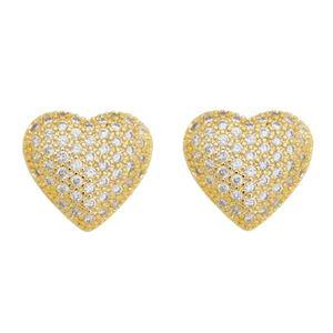 Imagem de Brinco coração com pedras zircônia - 0520456
