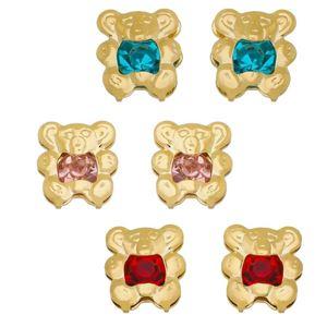 Imagem de Brinco urso com pedra strass - 0520500 Várias Cores