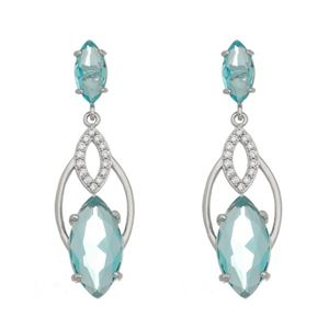 Imagem de Brinco pedras natural azul turmalina - 0520530*