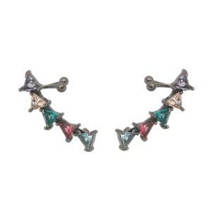 Imagem de Brinco ear cuff zircônia colorido - 0520644#