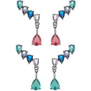 Imagem de Brinco ear cuff pedras zircônia - 0520652# Várias Cores