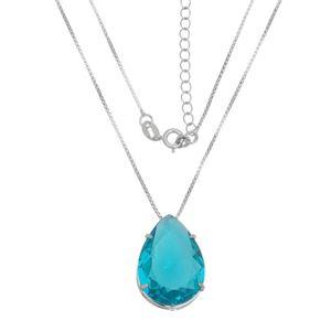 Imagem de Corrente gota zircônia azul turmalina - 0303834*
