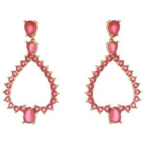 Imagem de Brinco com pedras natural pink - 0518437