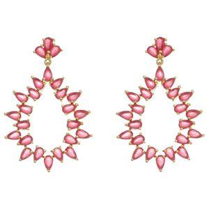 Imagem de Brinco com pedras natural pink - 0518438