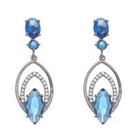Imagem de Brinco com pedras natural azul - 0520208#