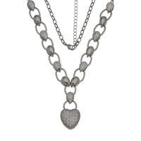 Imagem de Corrente coração pedras zircônia - 0303899