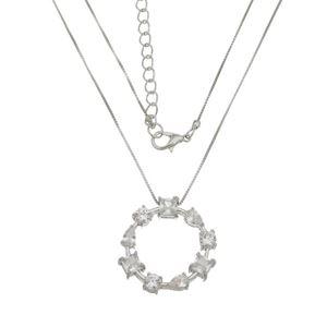 Imagem de Corrente com círculo de pedras zircônia - 0303844