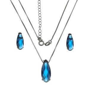 Imagem de Conjunto gota pedra natural azul - 1100610