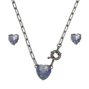 Imagem de Conjunto coração pedra fusion roxo - 1100602
