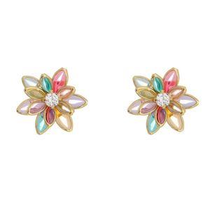 Imagem de Brinco flor com pedras coloridas - 0520769