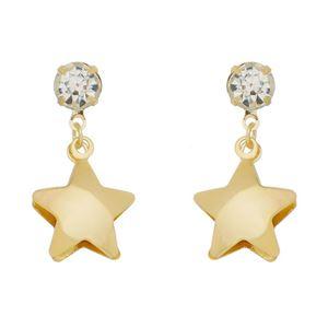 Imagem de Brinco estrela com pedra strass - 0520774