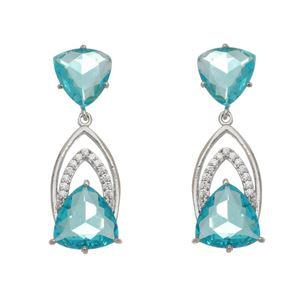 Imagem de Brinco pedras natural azul turmalina - 0520824*