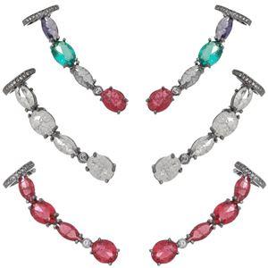 Imagem de Brinco ear cuff pedras zircônia - 0520992# Várias Cores