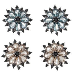 Imagem de Brinco flor pedras natural - 0521140# Várias Cores