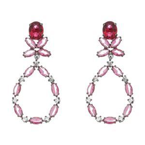 Imagem de Brinco gota com pedras natural pink - 0520850#