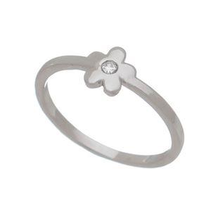 Imagem de Anel flor com pedra zircônia - 0106235
