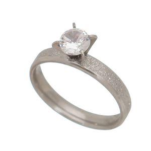 Imagem de Anel solitário diamantado com zircônia - 0106207
