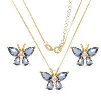 Imagem de Conjunto borboleta pedras natural  - 1100653