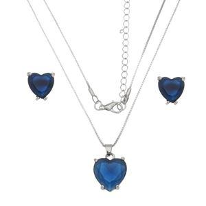 Imagem de Conjunto coração natural azul  - 1100647