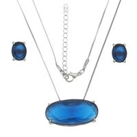 Imagem de Conjunto pedra oval natural azul  - 1100649