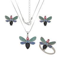 Imagem de Conjunto borboleta pedras zircônia - 1100646